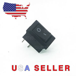 Mini 10mm X 15mm On off Rocker Switch 2 Pin 12v 3a 110v 6a 250v 3a Spst Boat