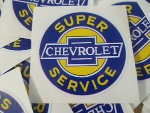 Chevrolet Super Service Decals Sticker Garage Tool Box Old School Vintage X 2