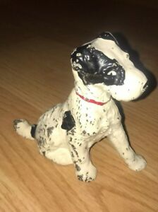 Antique Vintage Cast Iron Painted Dog Doorstop Bookend