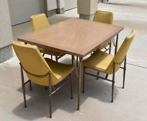 Vintage 50 S 60 S Virtue Brothers Formica Dining Table With 12 Leaf