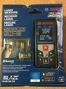 Bosch Blaze 165 Ft Laser Distance Measurer With Bluetooth And Full Color