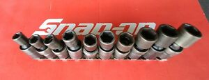 Snap On Tools 3 8 Drive 10 Pc Metric Shallow 6 Pt Impact Swivel Skt Set 10 19mm