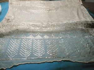 Antique 1920s Egyptian Assuit Hammered Metallic Shawl