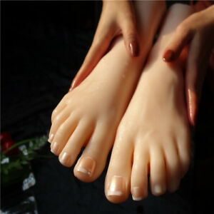 Female Foot Mannequin Silicone Model Shoes Display Size 36 A379