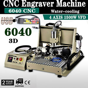 Usb Cnc 6040t 4 Axis Router Engraver Engraving Drill Mill Machine Controller