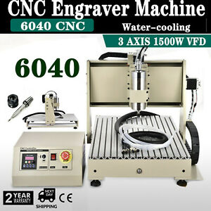 1 5kw Cnc Router 3axis 6040 Engraver Metal Wood Drilling Milling 3d Cut Machine