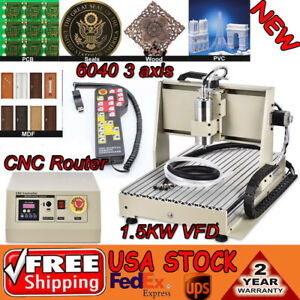 6040 Cnc Router 1 5kw 3 Axis Engraver Machine Milling Drill Cut Controller Rc