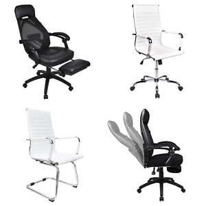 Ergonomic Executive Office Chair Computer Desk Task Seat High Back Leather Work