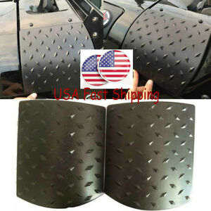 2 X Side Cowl Body Armor Cover For 2007 2016 Jeep Wrangler Jk Unlimited 2 4 Door