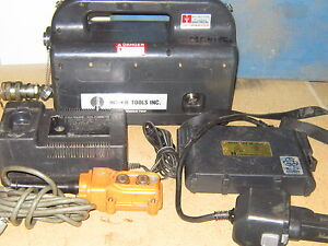 Huskie Rec p500 Portable Battery Hydraulic pump w pendant Hbs W Charger