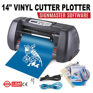 14 Vinyl Cutting Plotter Sign Cutter Usb Port Desktop 3 Blades Strong Packing