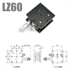 60 60mm Trimming Platform Manual Linear Stage Lz60 Z axis Slider Bearing