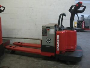 Raymond 112tm Electric Pallet Jack 48 Forks 6 000 Lb Cap Used Battery sav