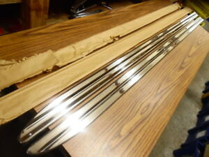 1950 Plymouth Coupe Body Side Sill Moulding Right Left Pair Nors Mopar 1249456