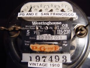 Westinghouse Ob Watthour Meter 1910
