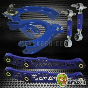 Front Rear Camber Kit Control Arm Kit Civic 1988 1991 Integra 1990 1993 Blue