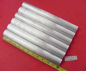 6 Pieces 1 1 8 Aluminum 6061 Round Rod 12 Long Solid T6511 Extruded Bar Stock