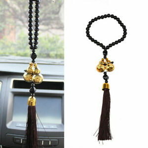 Car Rear View Mirror Pendant Double Lucky Gourd Hanging Ornament Folk Crafts Us