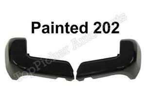 Painted 202 Black Rear Bumper End W O Sensor Hole Set For Toyota Tacoma 2016 18