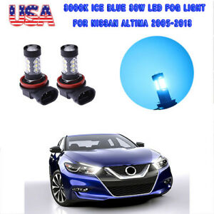 2x 80w Led Fog Driving Light Bright 8000k Ice Blue For Nissan Altima 2005 2018