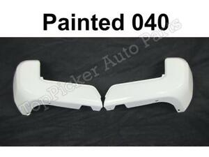Rear Bumper End Painted 040 Super White W O Sensor Set For Toyota Tacoma 2016 18