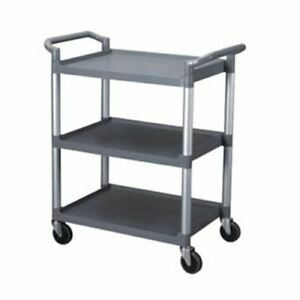 3 Tier Mobile Restaurant Bus Busser Dishwasher Bussing Busing Clean Up Cart