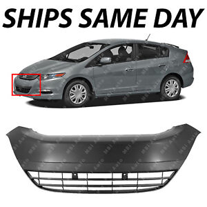 New Primered Front Bumper Cover Center Grille Grill For 2010 2014 Honda Insight