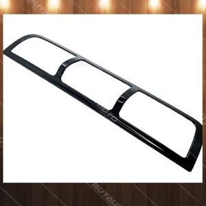 Glossy Black 3rd Brake Light Cover Abs Painted Trim Overlay For 2010 18 Ram 2500