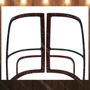 Tail Light Cover For 2009 2010 Dodge Ram 3500 Glossy Black Painted Abs Trim