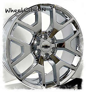 20 Inch Chrome 2016 Gmc Denali Oe Replica Rims Fits Chevy Silverado Tahoe 6x5 5