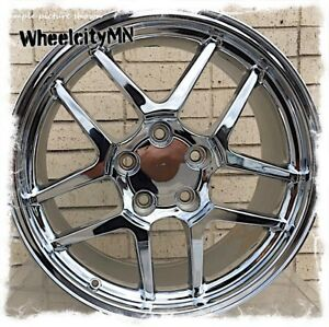 18 X10 5 17x9 5 Staggered Chrome Chevy Corvette C5 Zo6 Oe Replica Wheels Z28
