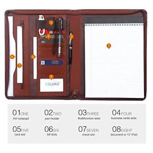 File Folder Padfolio Writing Pad Business Presentation Folder Portfolio Brown