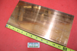 3 8 x 6 C110 Copper Bar 12 Long Solid Flat Bus Bar Mill Stock 375x 6 99 9 cu