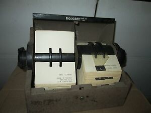 Large Double Vintage Rotary Metal Rolodex Card File Model Used Normal Wear
