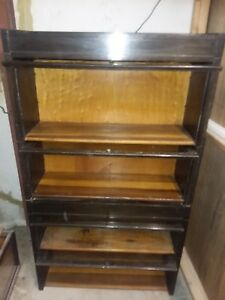 Antique 4 Stack Barrister Lawyer S Bookcase Display Cabinet Empire