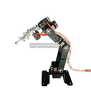 6dof Mechanical Robot Arm Frame Clamp Claw Mount With Ks3518 Servo For Arduino