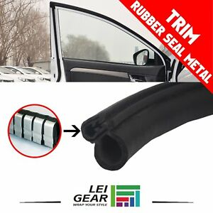 Black Rubber Seal Lock Trim Weatherstrip Auto Door Edge Guard Soundproof 30ft