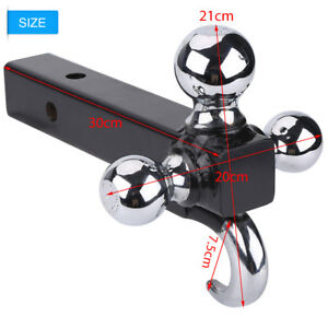 New Triple 3 Ball Adjustable Swivel Tow Hitch Mount Trailer Fits 2 Receiver Us