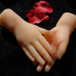 Solid Small Silicone Female Hands Mannequin Hands Ring Display A Pair A672