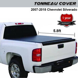Tri fold Truck Bed Tonneau Cover Fit Fit 2015 19 Chevy Colorado gmc Canyon 5ft