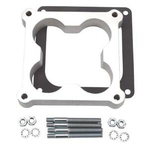 Edelbrock Carburetor Spacer 8718 Dominator 1 Open center Cloverleaf Aluminum