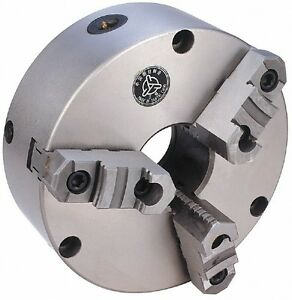 Value Collection 3 Jaws 8 Diam Self Centering Manual Lathe Chuck Plain Bac