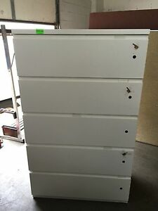 5dr 36 w Lateral Sz File Cabinet By Haworth Office Furn W 5 Different Locks keys