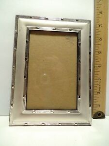 Vintage Ornate Prinz Silver Color Metal Picture Frame 5 X 7 Picture
