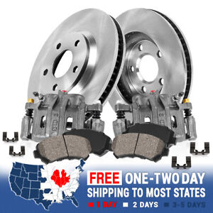 Front Oe Calipers Brake Rotors ceramic Pads For 1998 2002 Hond Accord V6