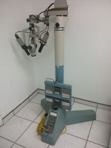 Weck Jkh Dual Head Operating Microscope W fiber Optic Light Source Miami