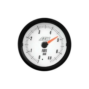 Aem Analog 6 9bar Oil fuel Pressure Gauge metric