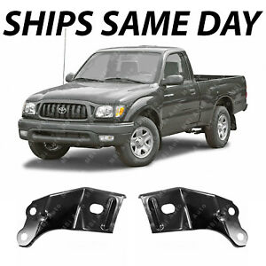 New Steel Front Bumper Left Right Bracket Combo Kit For 2001 2004 Toyota Tacoma