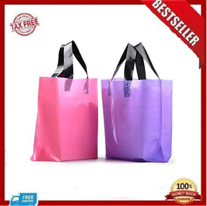 100pcs Frosted Plastic Gift Bags Large Retail Clothing Grocery Boutique Shopping