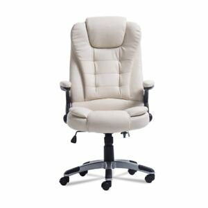 Home Office Executive Pu Leather Massaging Ergonomic Height Adjustable Chair